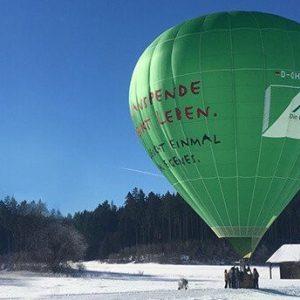 Ballonfahrt Winter