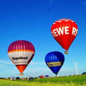 Ballonfahrt schwäbische alp
