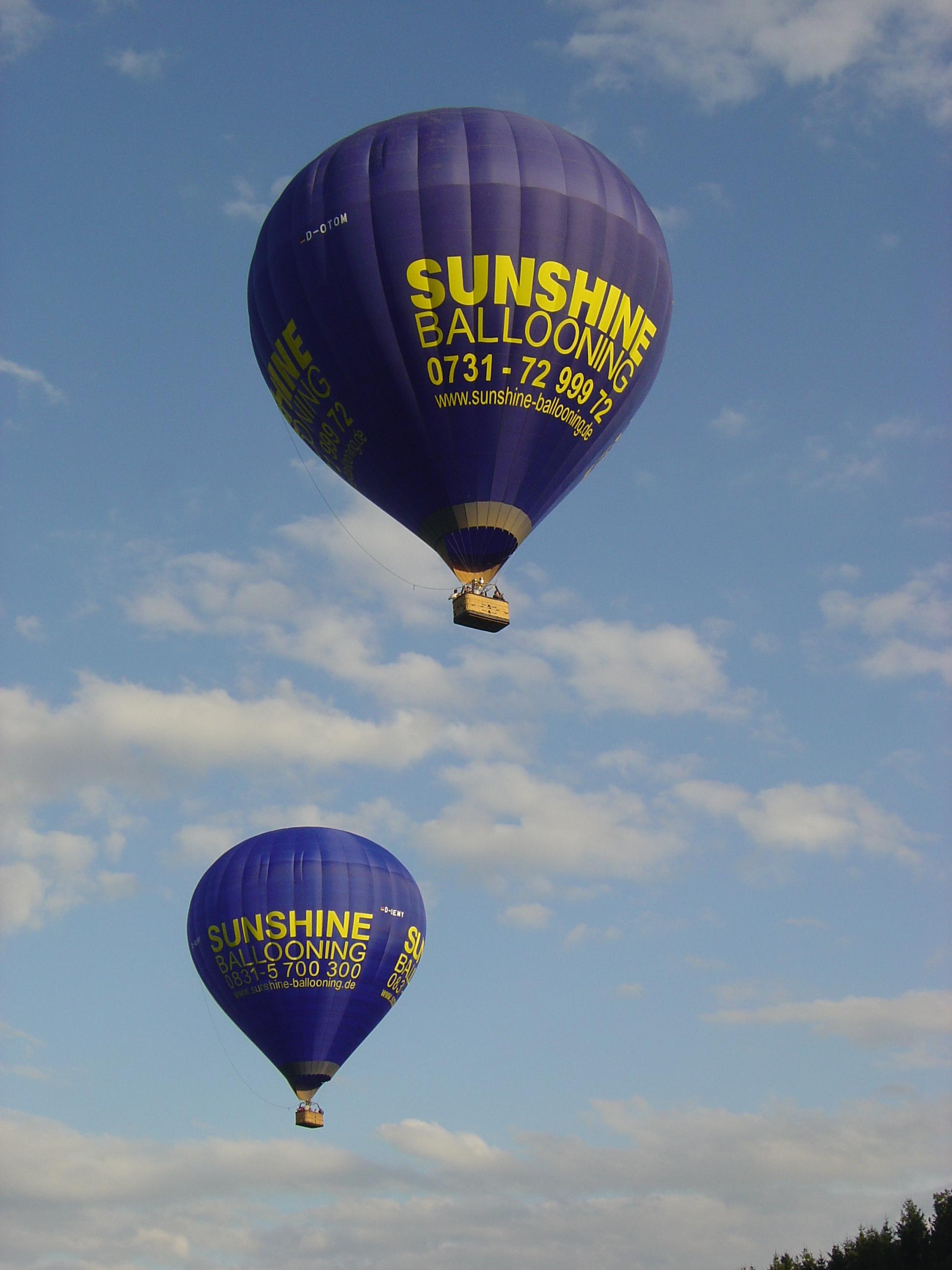 Ballonfahrt Bodensee Abfahrt