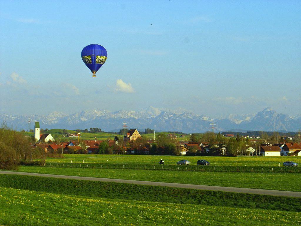 Ballonfahrt allgäu Oberbayern Alpen