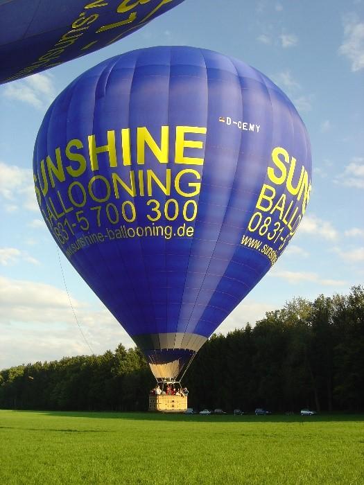 Ballonfahrt Stuttgart Abfahrt