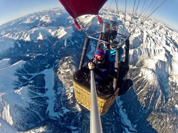 Mit dem Ballon über die Alpen